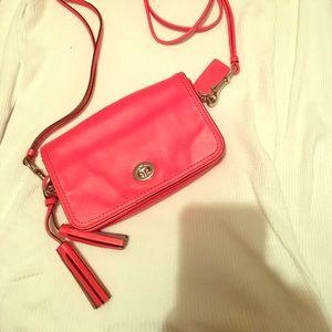 Bright pink Coach®️crossbody? Purse :)